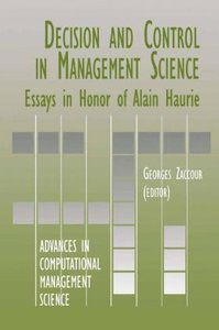 Decision & Control in Management Science