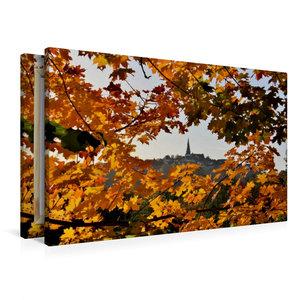 Premium Textil-Leinwand 90 cm x 60 cm quer Herbststimmung
