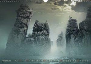 Auf wundersamer Reise im Reich der Fantasie (Wandkalender 2019 D