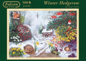Falcon - Winter Hedgerow - 500 Teile
