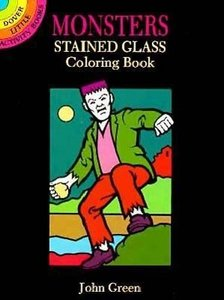 Monsters Stained Glass Coloring Book