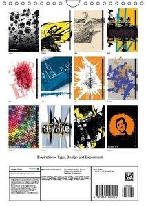 Inspiration - Typo, Design und Experiment (Wandkalender 2016 DIN