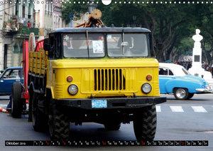 Sowjetische LKW auf Kuba (Wandkalender 2019 DIN A3 quer)