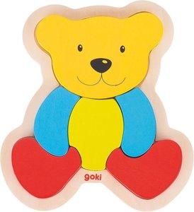 Einlegepuzzle Bär