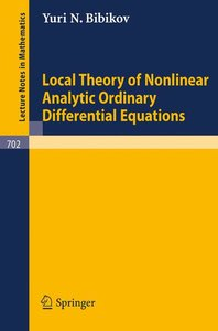 Local Theory of Nonlinear Analytic Ordinary Differential Equatio