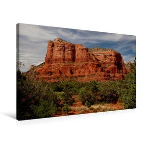 Premium Textil-Leinwand 75 cm x 50 cm quer Sedona - Red Rocks