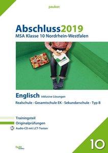 Abschluss 2019 - Mittlerer Schulabschluss. Englisch. Nordrhein-W