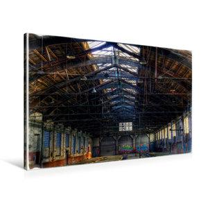 Premium Textil-Leinwand 90 cm x 60 cm quer Güterwagenreparaturha