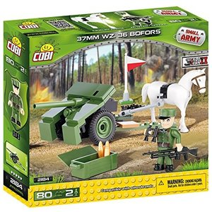 COBI 2184 - SMALL ARMY, 37MM WZ. 36 BOFORS, Kanone, WWII, Bausat