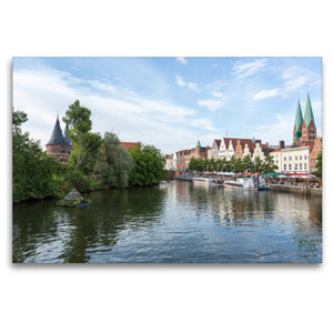 Premium Textil-Leinwand 120 cm x 80 cm quer Obertrave in Lübeck