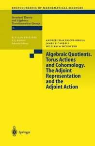 Algebraic Quotients. Torus Actions and Cohomology. The Adjoint R