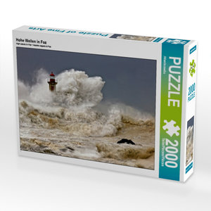 Hohe Wellen in Foz 2000 Teile Puzzle quer