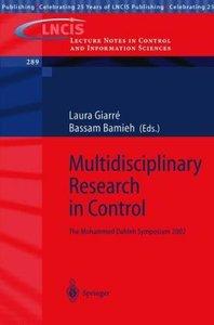 Multidisciplinary Research in Control