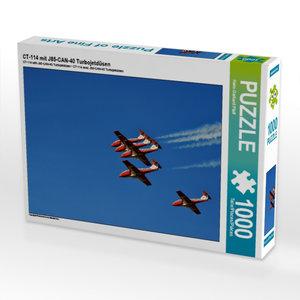CT-114 mit J85-CAN-40 Turbojetdüsen 1000 Teile Puzzle quer