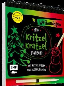 Mein Kritzel-Kratzel-Malbuch - Weihnachten, mit Holzstift