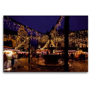 Premium Textil-Leinwand 120 cm x 80 cm quer Weihnachtsmarkt