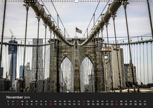 Brooklyn Bridge - New York City (Wandkalender 2019 DIN A2 quer)