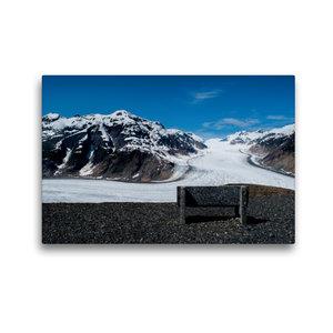 Premium Textil-Leinwand 45 cm x 30 cm quer Salmon Glacier