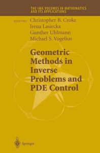Geometric Methods in Inverse Problems and PDE Control