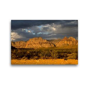 Premium Textil-Leinwand 45 cm x 30 cm quer Red Rocks, Nevada