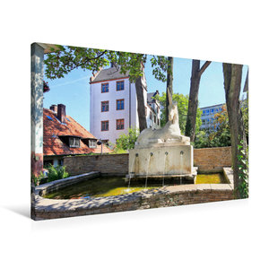 Premium Textil-Leinwand 90 cm x 60 cm quer Einhornbrunnen