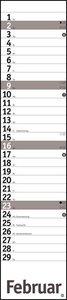 Planer long, silber Kalender 2020