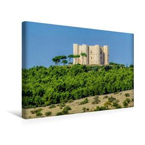 Premium Textil-Leinwand 45 cm x 30 cm quer Castel del Monte