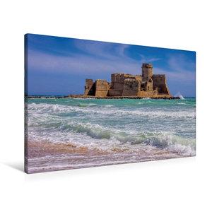 Premium Textil-Leinwand 90 cm x 60 cm quer Fortezza di Le Castel
