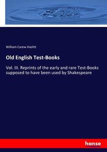Old English Test-Books