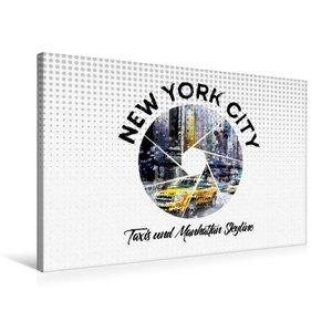 Premium Textil-Leinwand 75 cm x 50 cm quer Graphic-Art NEW YORK