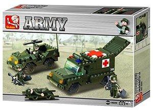 Sluban ARMY M38-B6000 - Ambulanzkonvoi, 229 Teile