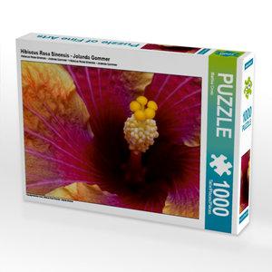 Hibiscus Rosa Sinensis - Jolanda Gommer 1000 Teile Puzzle quer