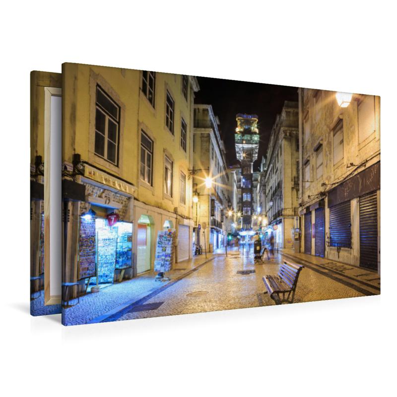 Premium Textil-Leinwand 120 cm x 80 cm quer Elevador de Santa Ju - zum Schließen ins Bild klicken