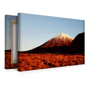 Premium Textil-Leinwand 45 cm x 30 cm quer Mount Ngauruhoe im Ab