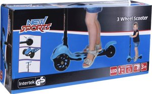 NSP 3-Wheel Scooter Blau, klappbar, 110m