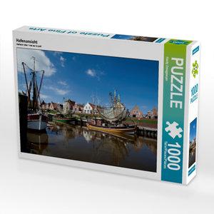 Hafenansicht 1000 Teile Puzzle quer