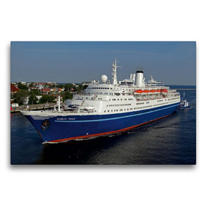Premium Textil-Leinwand 75 cm x 50 cm quer Kreuzfahrtschiff MARC