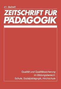 Zeitschrift für Pädagogik - 41. Beiheft