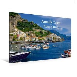 Premium Textil-Leinwand 120 cm x 80 cm quer Amalfiküste