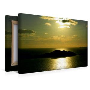Premium Textil-Leinwand 45 cm x 30 cm quer Sonnenuntergang in Af