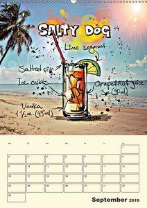Coole Cocktails für heiße Feten (Wandkalender 2019 DIN A2 hoch)