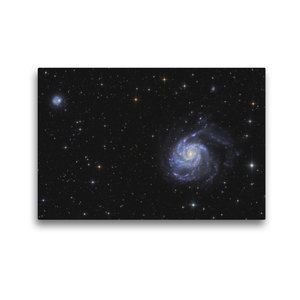 Premium Textil-Leinwand 45 cm x 30 cm quer Feuerradgalaxie im St