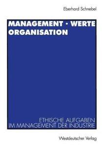 Management · Werte Organisation