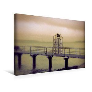 Premium Textil-Leinwand 45 cm x 30 cm quer FSK Brücke Holtenau