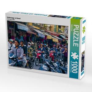 Unterwegs in Hanoi 1000 Teile Puzzle quer