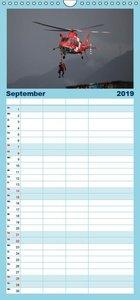 Helikopter in der Luft - Familienplaner hoch (Wandkalender 2019