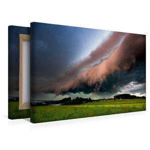 Premium Textil-Leinwand 45 cm x 30 cm quer Shelfcloud im Abendli