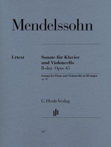 Sonate für Klavier und Violoncello B-dur op. 45