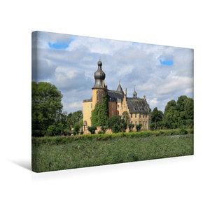 Premium Textil-Leinwand 45 cm x 30 cm quer Wasserburg Gemen in B