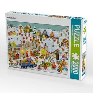 Winterferien 2000 Teile Puzzle quer